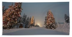 Christmas Trees  Beach Towel