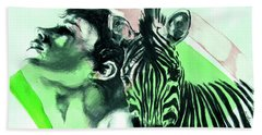 Chronickles Of Zebra Boy   Beach Towel