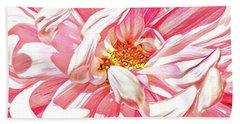 Chrysanthemum In Pink Beach Towel