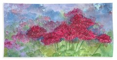 Beach Sheet featuring the painting Chrysanthemums by Cathie Richardson