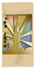 Chrysler Building - Chuck Staley Beach Towel by Chuck Staley