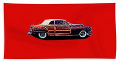 Beach Sheet featuring the photograph Chrysler Town And Country Convertible Roadster by Richard W Linford