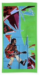 Chuck Berry Beach Sheet by John Lautermilch