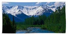 Chugach Mountains, Running Stream Beach Towel