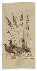 Chukar Partridges Beach Towel