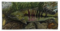 Chum Salmon Beach Towel