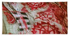 Beach Towel featuring the photograph Chumash Painted Cave State Historic Park by Kyle Hanson