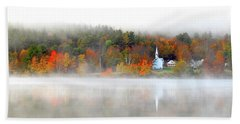Church Across The Lake Beach Towel