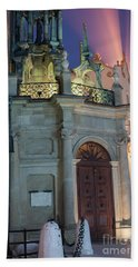 Beach Towel featuring the photograph Church Door by Juli Scalzi