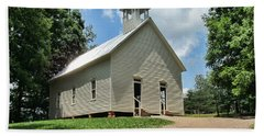 Church In Cade's Cove Beach Sheet by Victor Montgomery