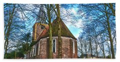 Church In Winsum Beach Towel by Frans Blok