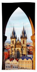Beach Towel featuring the photograph Church Of Our Lady Before Tyn by Fabrizio Troiani