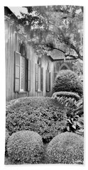 Church Of The Cross Bluffton Sc Black And White Beach Sheet