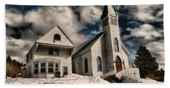 Beach Sheet featuring the photograph Church Of The Immaculate Conception Roslyn Wa by Jeff Swan