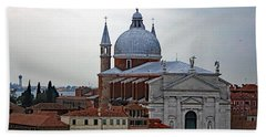 Church Of The Santissimo Redentore On Giudecca Island In Venice Italy Beach Towel