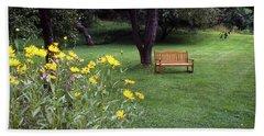 Churchyard Bench - Woodstock, Vermont Beach Towel