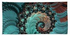 Beach Sheet featuring the digital art Churning Sea Fractal by Bonnie Bruno