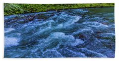 Beach Towel featuring the photograph Churning Water by Jonny D