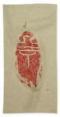 Beach Towel featuring the painting Cicada Chop by Debbi Saccomanno Chan