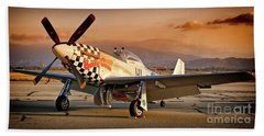 Cielos Llcs P-51 Mustang Buzzin Cuzzin  44-84735 Version 2 Beach Towel