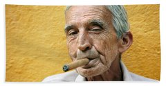 Cigar Smoking - Trinidad - Cuba Beach Towel