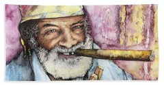 Cigars And Cuba Beach Towel