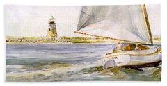 Cimba At Bird Island Light Beach Towel