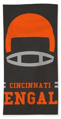 Cincinnati Bengals Vintage Art Beach Towel by Joe Hamilton