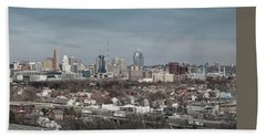 Cincinnati Panorama  Beach Sheet by Scott Meyer