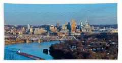 Cincinnati View From The West Beach Towel