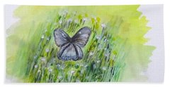 Cindy's Butterfly Beach Towel by Clyde J Kell