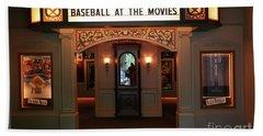 Cinema Interior Baseball Hall Of Fame Ny Beach Towel