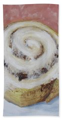 Beach Towel featuring the painting Cinnamon Roll by Nancy Nale