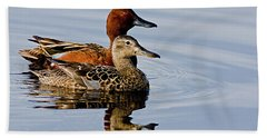 Cinnamon Teal Pair Beach Towel