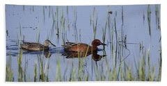 Cinnamon Teal Pair Beach Sheet