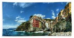 Cinque Terre - View Of Riomaggiore Beach Towel