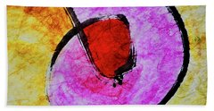 Beach Towel featuring the painting Circle Of Life by Joan Reese