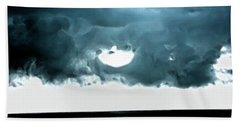 Circle Of Storm Clouds Beach Towel