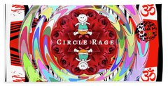 Circle Rage Beach Towel
