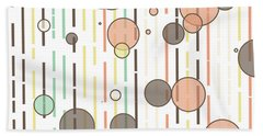 Circles And Lines Beach Towel