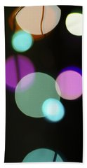 Circles And String Beach Towel by Susan Stone