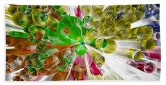 Beach Towel featuring the digital art Circles In Perspective 3 by Alberto RuiZ