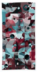 Beach Towel featuring the digital art Circles Squared by Shawna Rowe