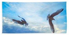 Circling Wings  Beach Towel