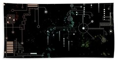 Circuit Board Beach Towel