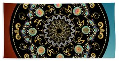 Beach Towel featuring the digital art Circularium No 2640 by Alan Bennington