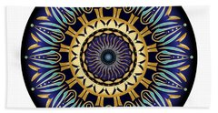 Beach Towel featuring the digital art Circularium No 2641 by Alan Bennington