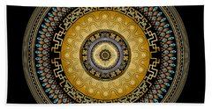 Beach Towel featuring the digital art Circularium No 2642 by Alan Bennington