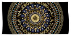 Beach Towel featuring the digital art Circularium No 2643 by Alan Bennington