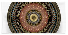 Beach Towel featuring the digital art Circularium No 2645 by Alan Bennington